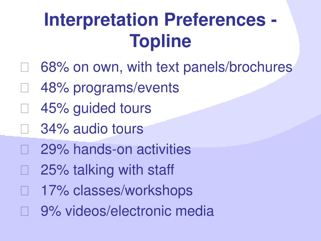 Interpretation Preferences -Topline