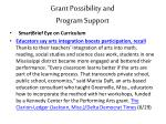 grant possibility and program support