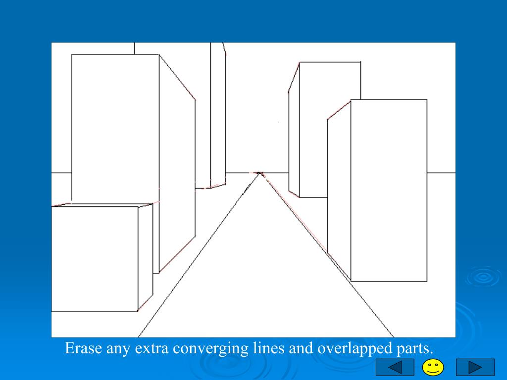 Erase any extra converging lines and overlapped parts.