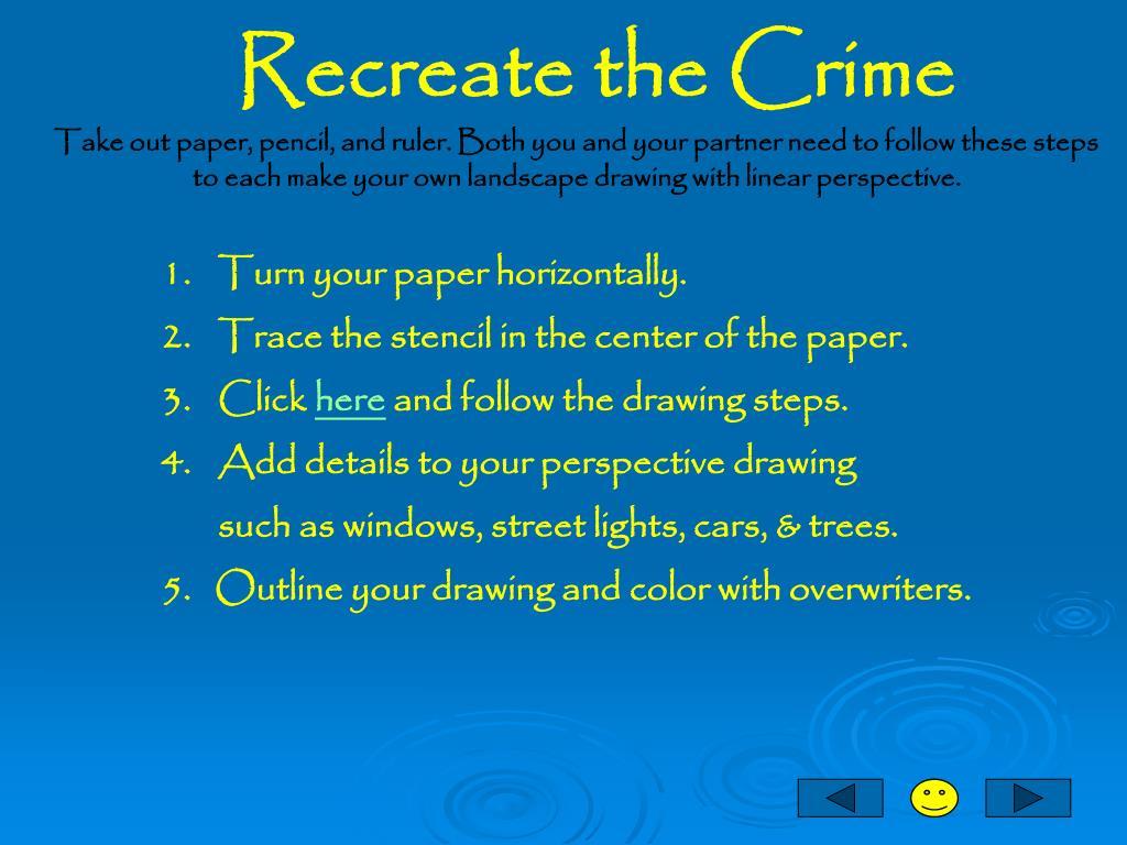 Recreate the Crime