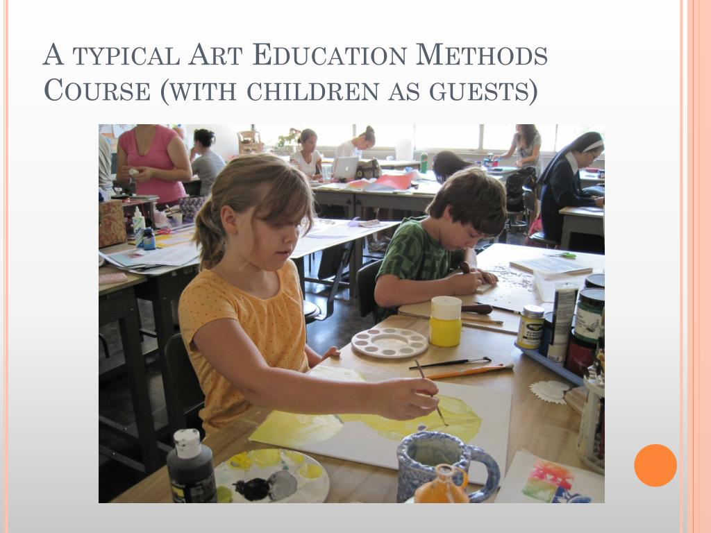 A typical Art Education Methods Course (with children as guests)