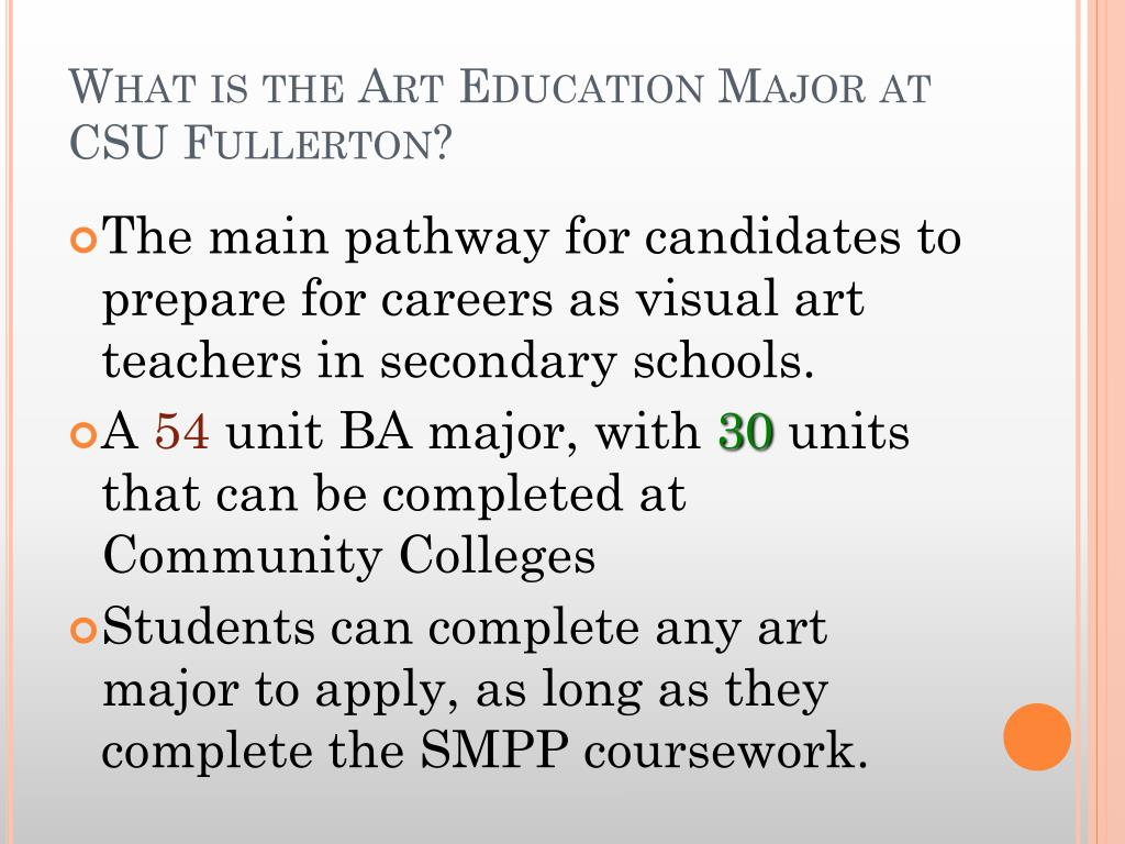 What is the Art Education Major at CSU Fullerton?