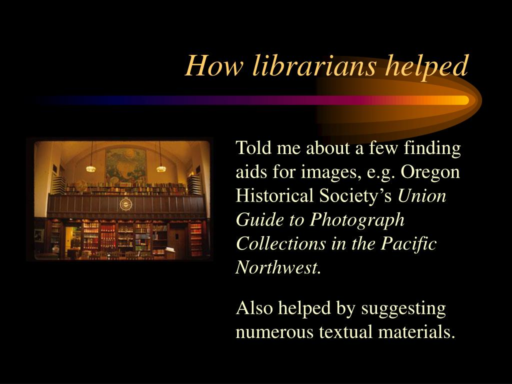 How librarians helped