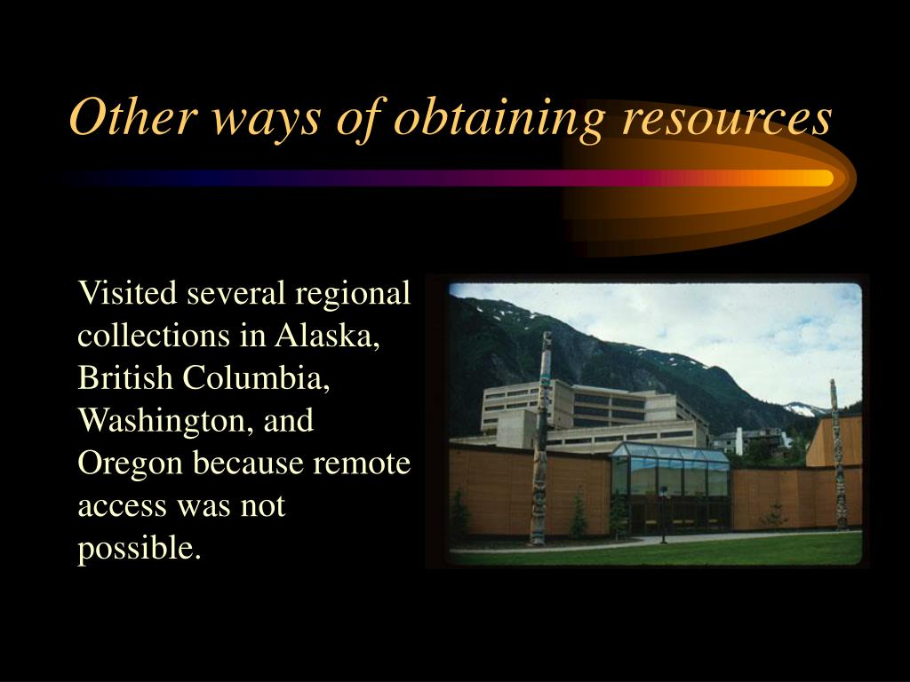 Other ways of obtaining resources