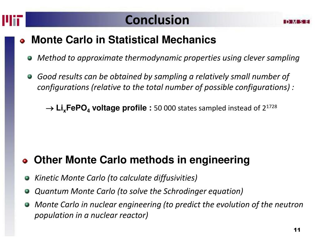 Monte Carlo in Statistical Mechanics