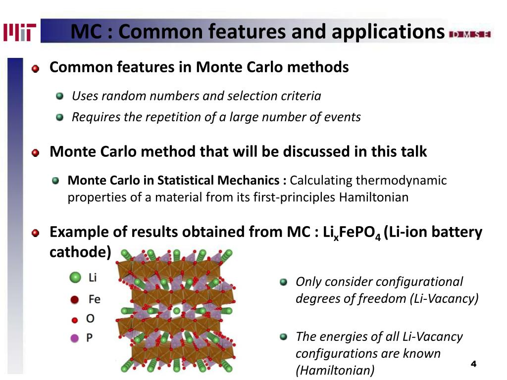 Common features in Monte Carlo methods