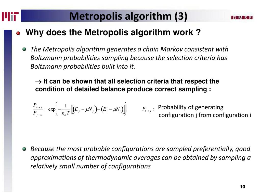 Why does the Metropolis algorithm work ?