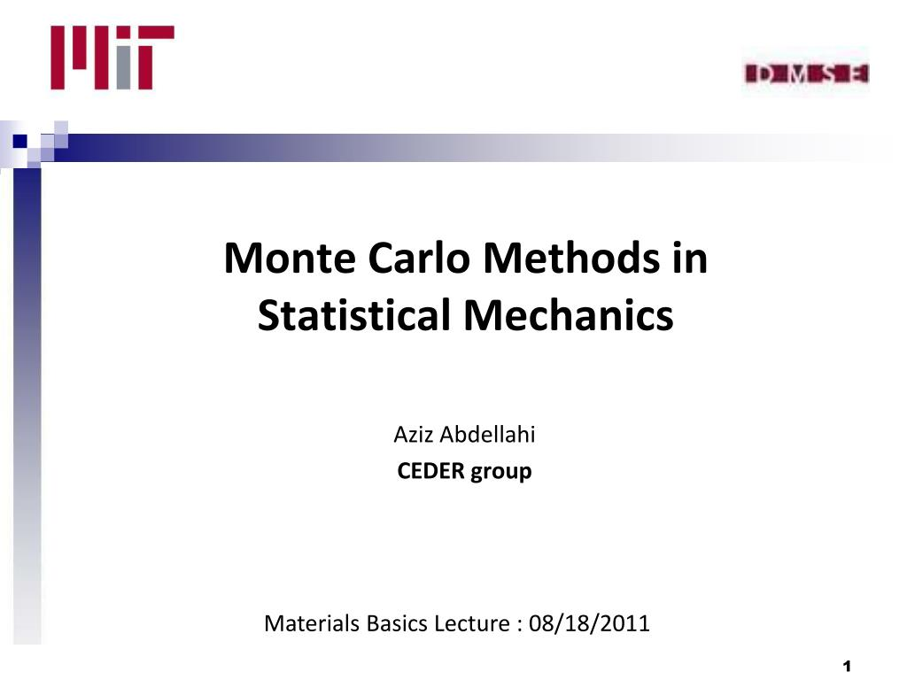 Monte Carlo Methods in