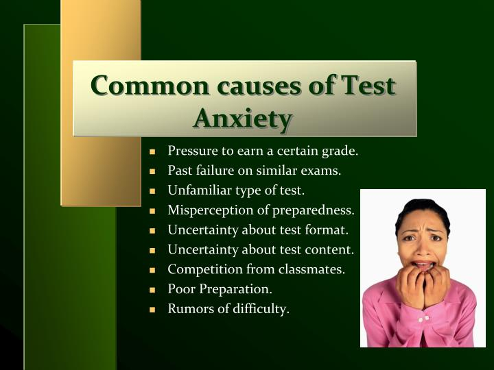 Common causes of test anxiety
