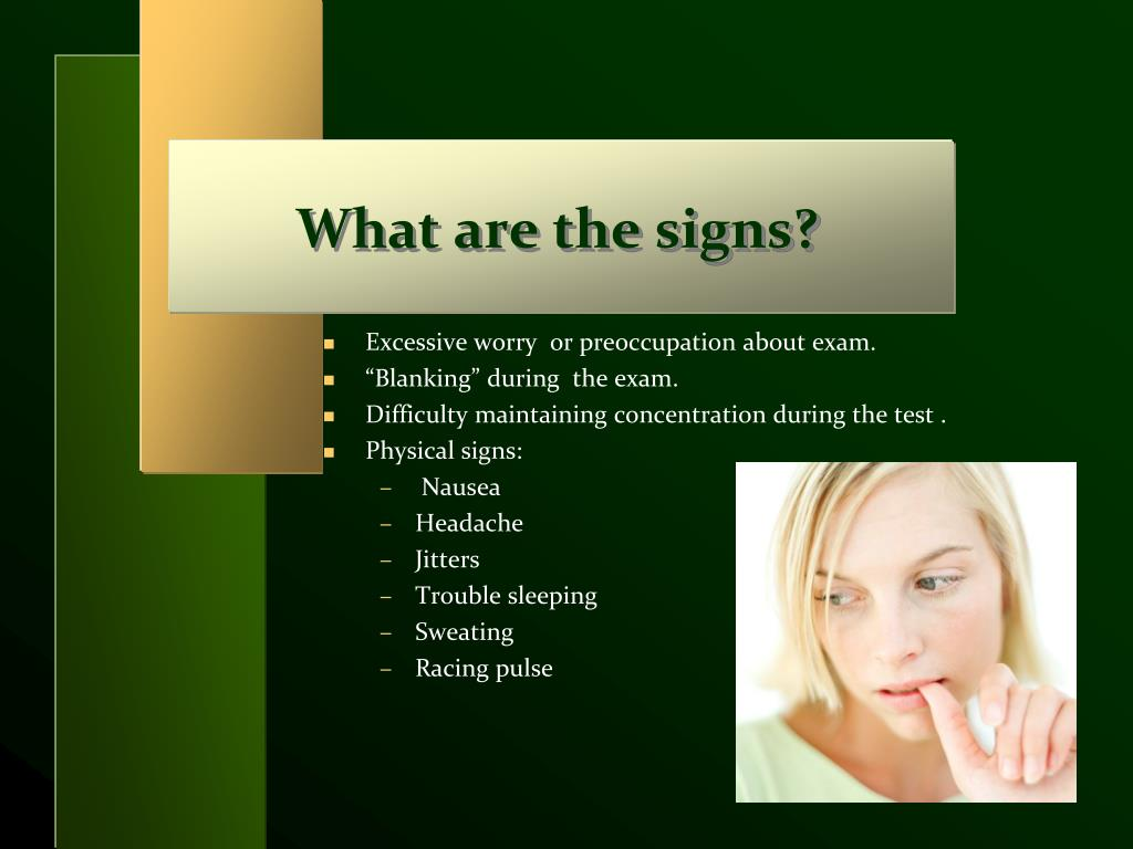 What are the signs?