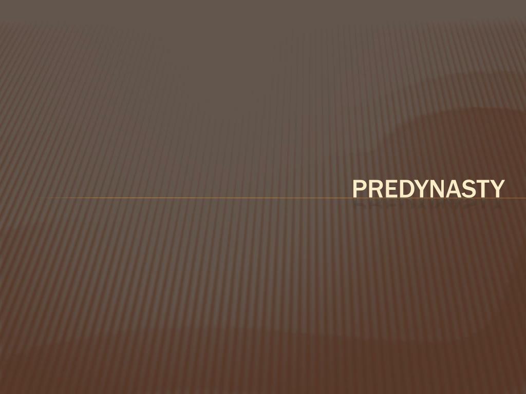 Predynasty