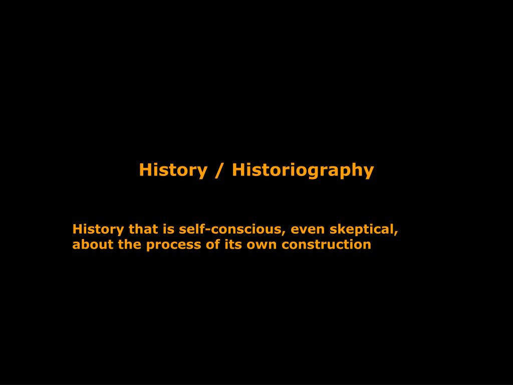 History / Historiography