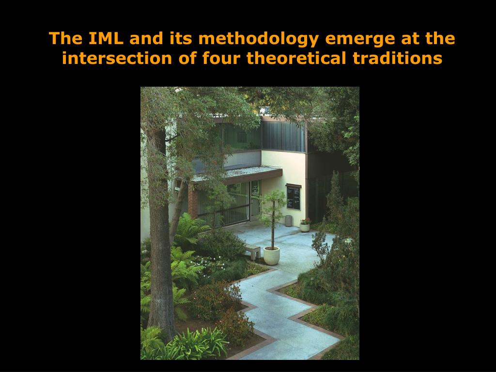 The IML and its methodology emerge at the intersection of four theoretical traditions