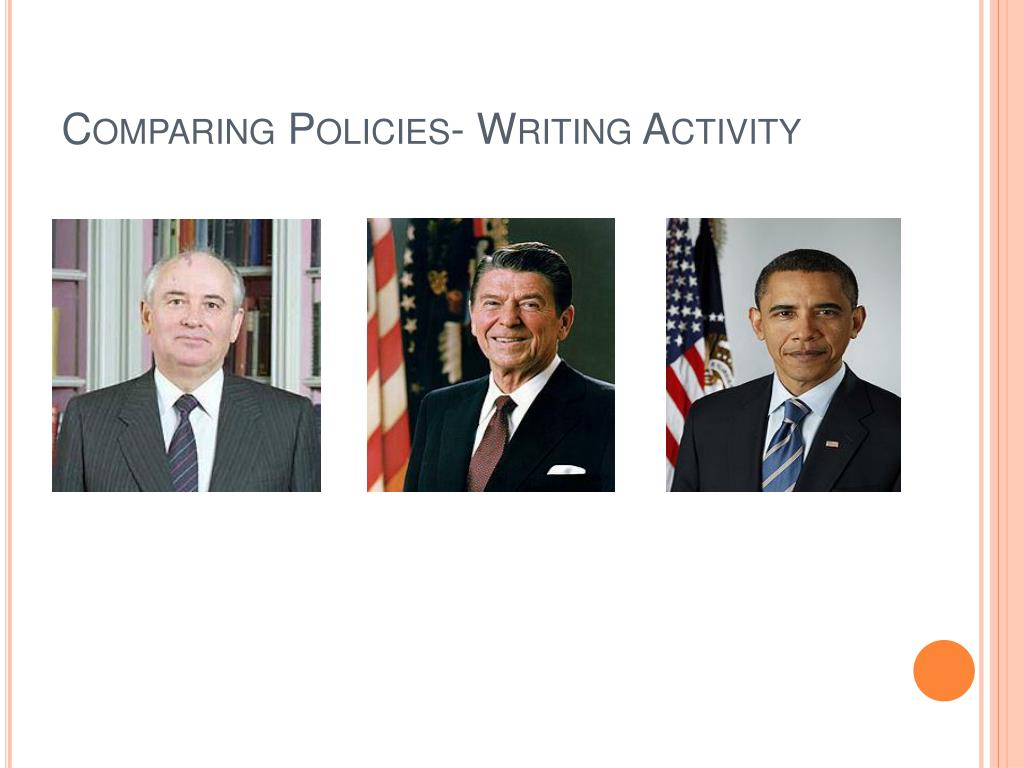 Comparing Policies- Writing Activity
