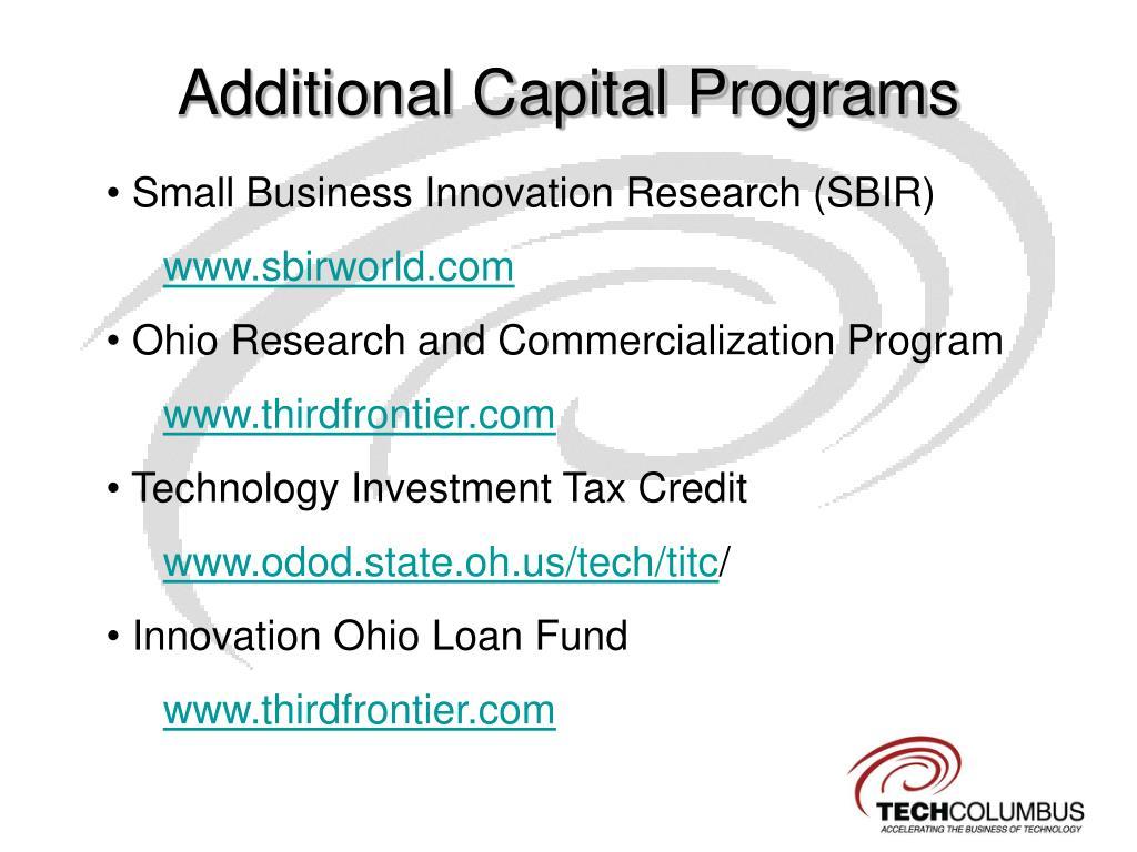 Additional Capital Programs