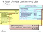 assign overhead costs to activity cost pools21