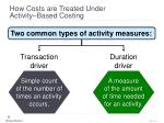 how costs are treated under activity based costing10