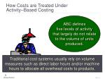 how costs are treated under activity based costing11