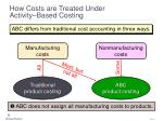 how costs are treated under activity based costing5