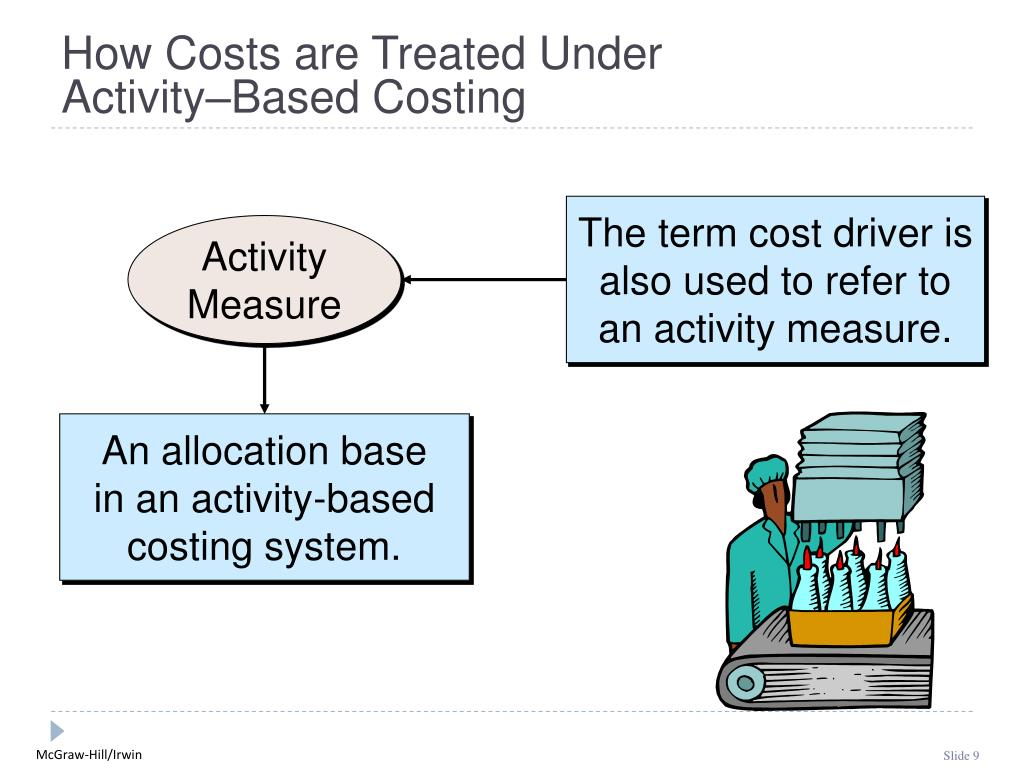 The term cost driver is also used to refer to an activity measure.