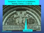 tympanum church of la madeleine vezelay france c 1120 32