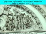 tympanum right detail church of la madeleine vezelay france c 1120 32