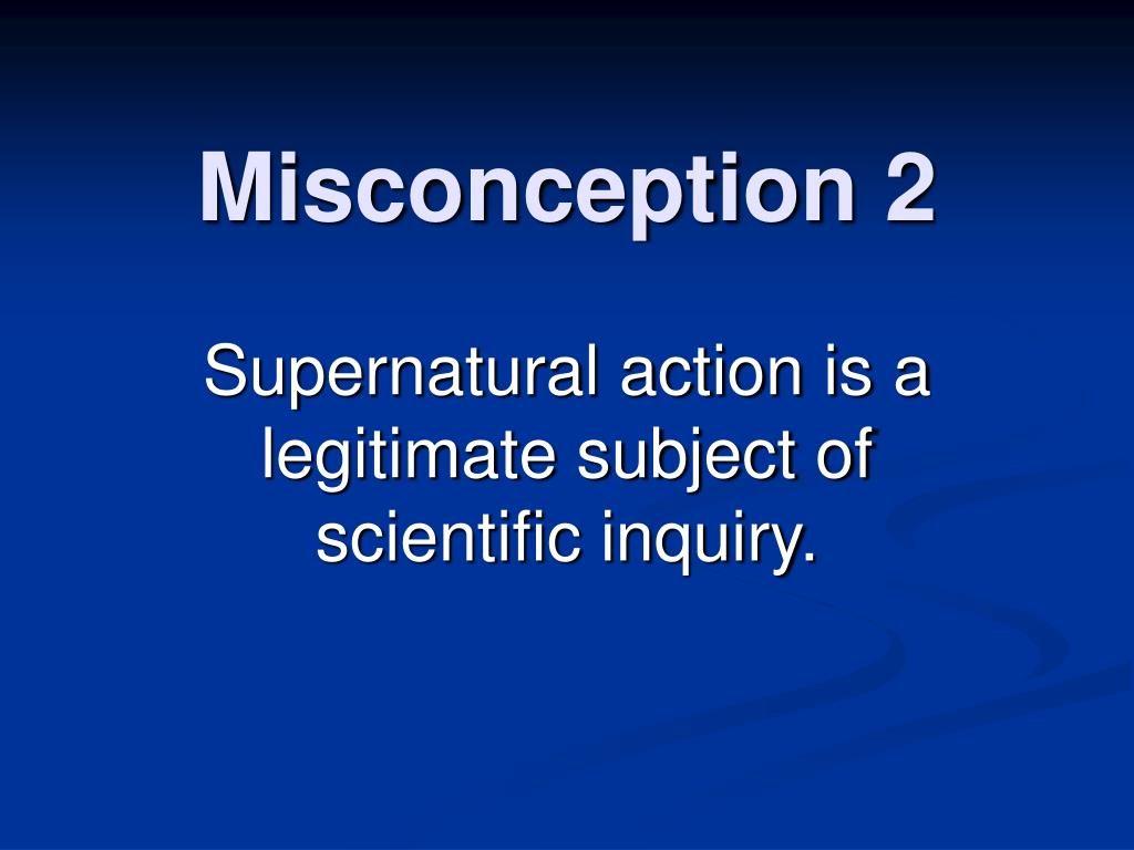 Misconception 2
