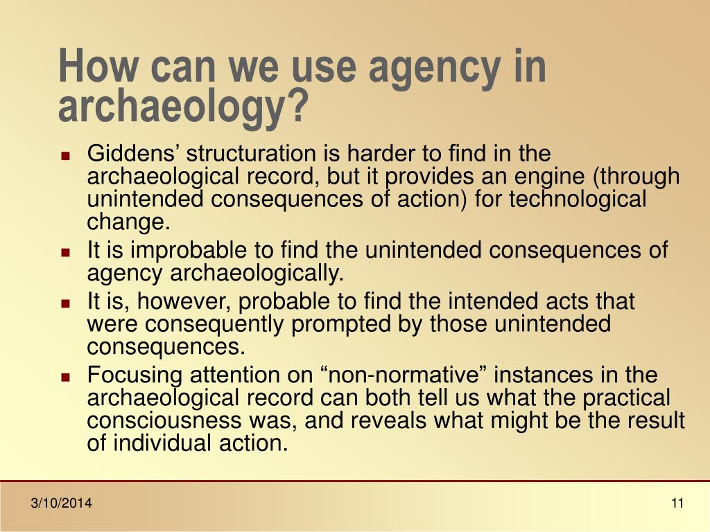 How can we use agency in archaeology?