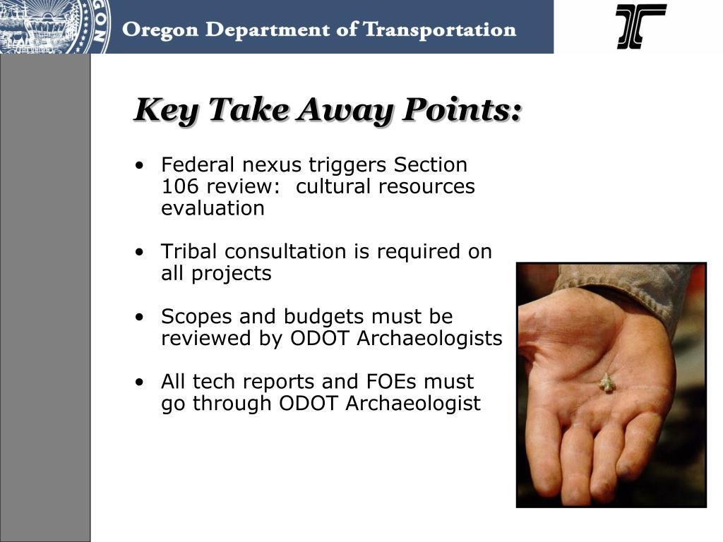 Key Take Away Points:
