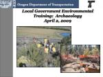 local government environmental training archaeology april 2 2009