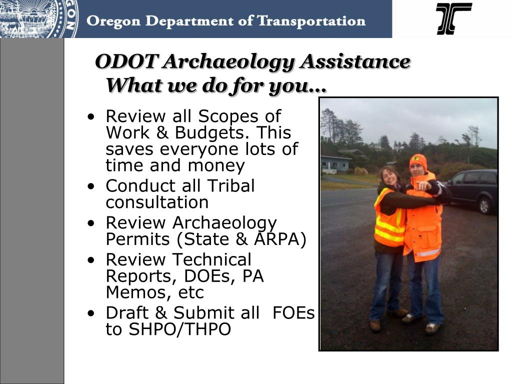 ODOT Archaeology Assistance