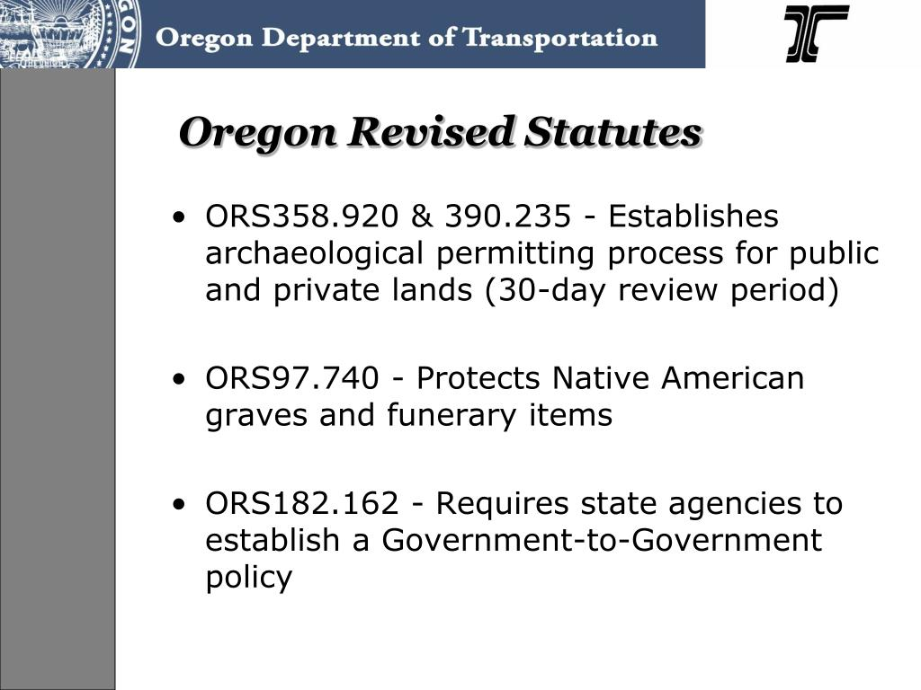 Oregon Revised Statutes