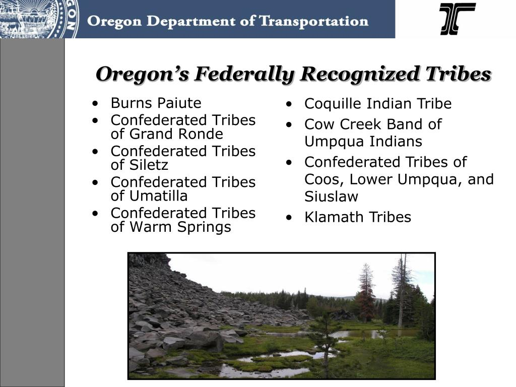 Oregon's Federally Recognized Tribes