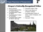 oregon s federally recognized tribes