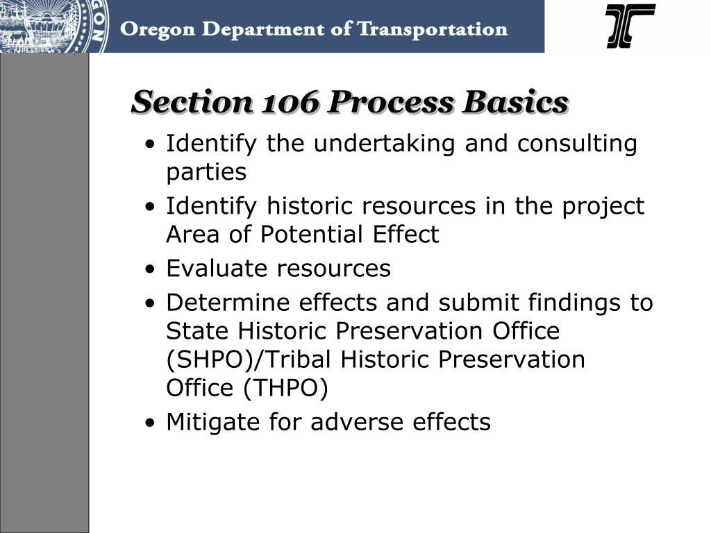 Section 106 Process Basics