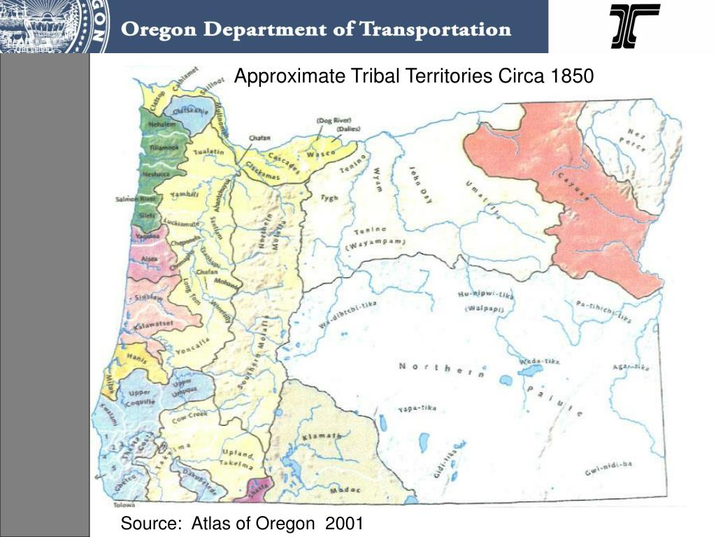 Approximate Tribal Territories Circa 1850