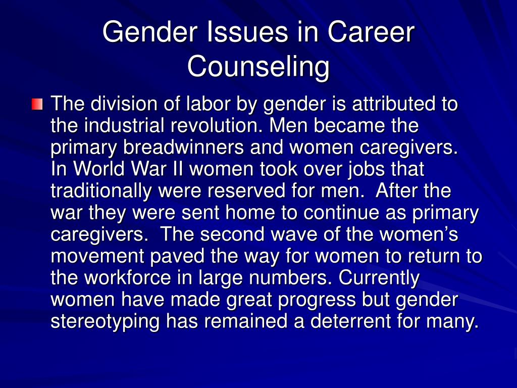 The issue of gender bias in american culture