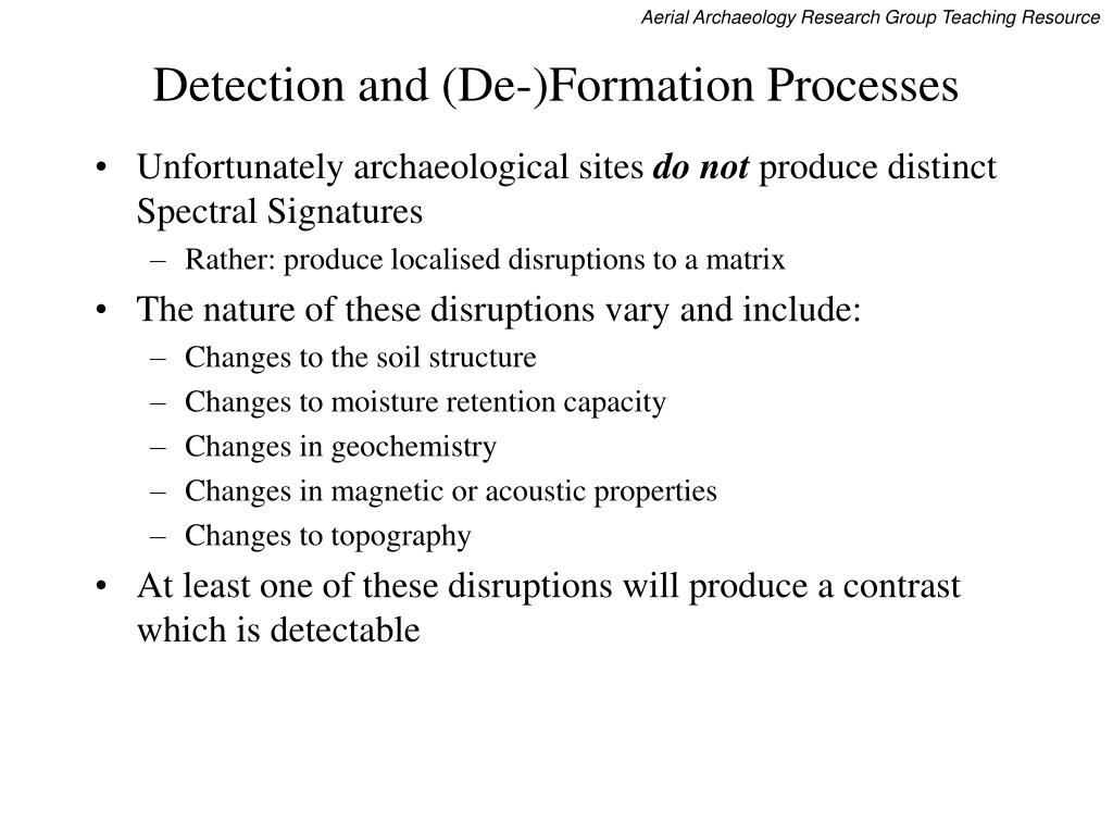 Detection and (De-)Formation Processes