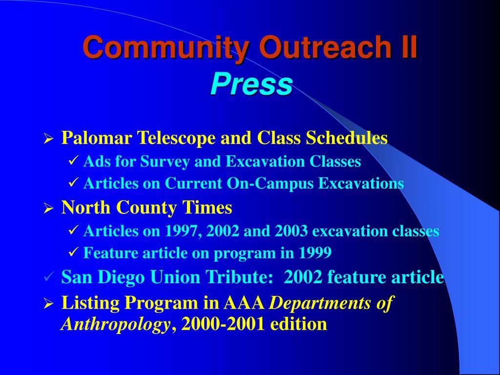 Community Outreach II