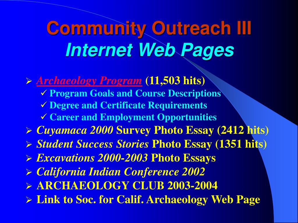 Community Outreach III