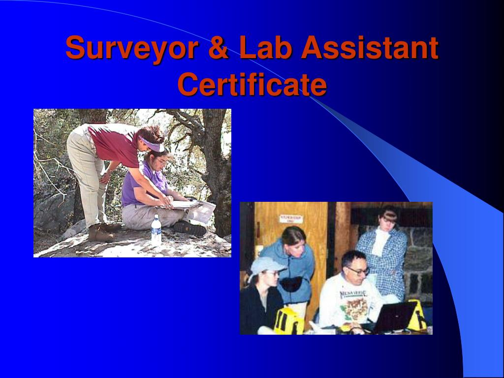 Surveyor & Lab Assistant Certificate