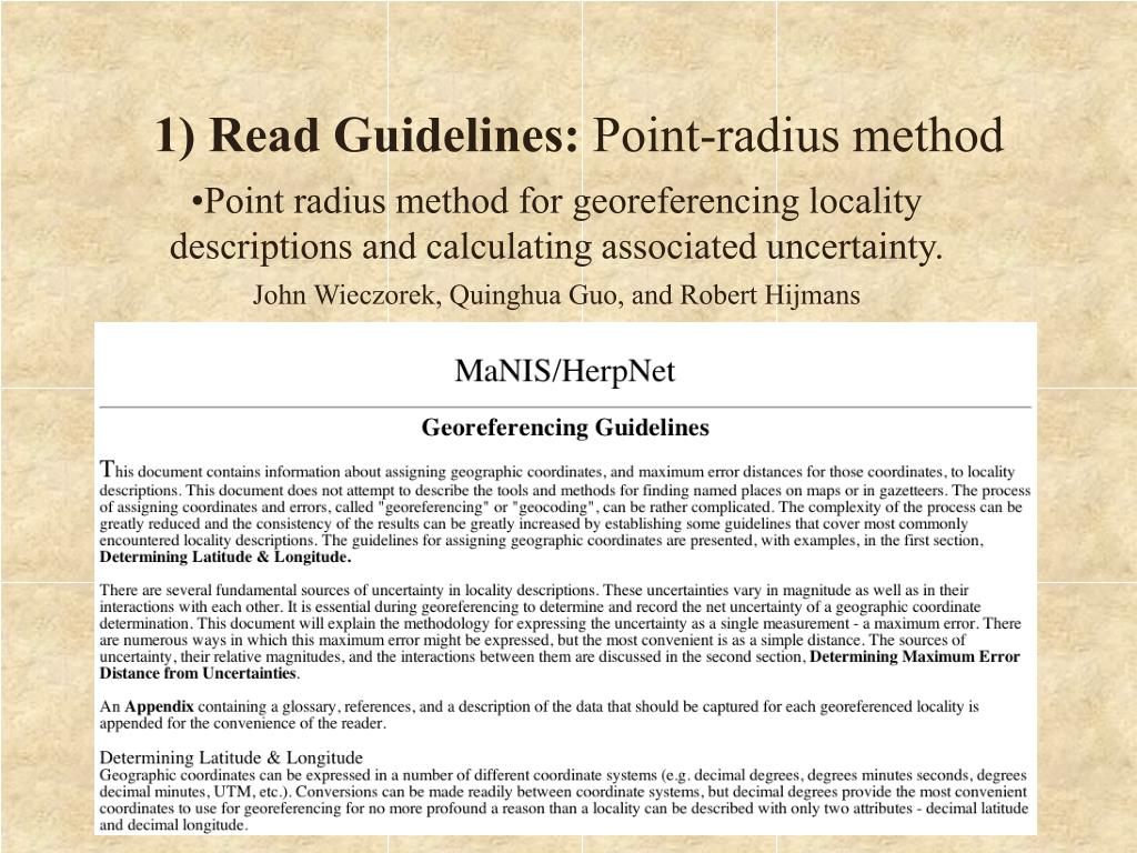 1) Read Guidelines: