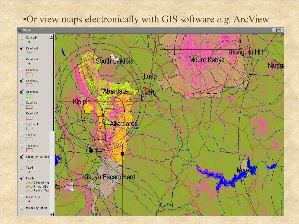 Or view maps electronically with GIS software