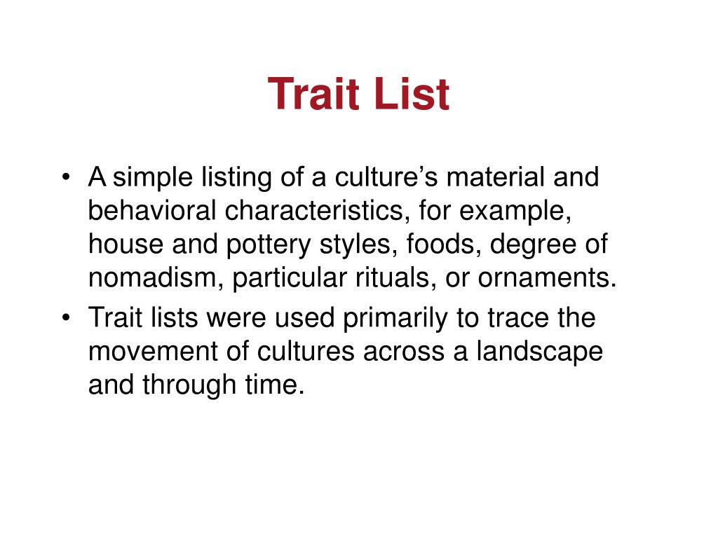 Trait List