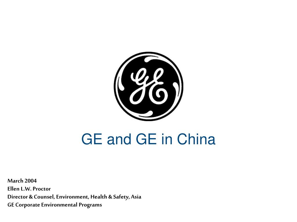 GE and GE in China