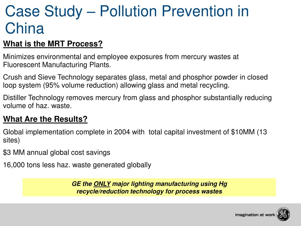 Case Study – Pollution Prevention in China