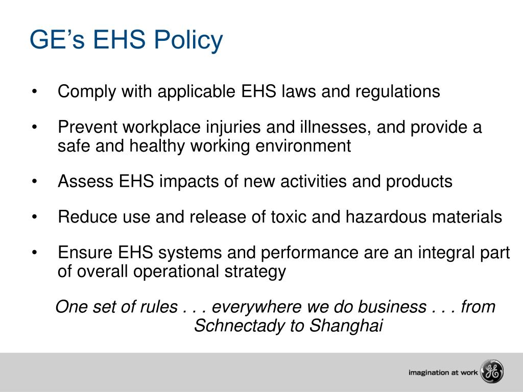 GE's EHS Policy