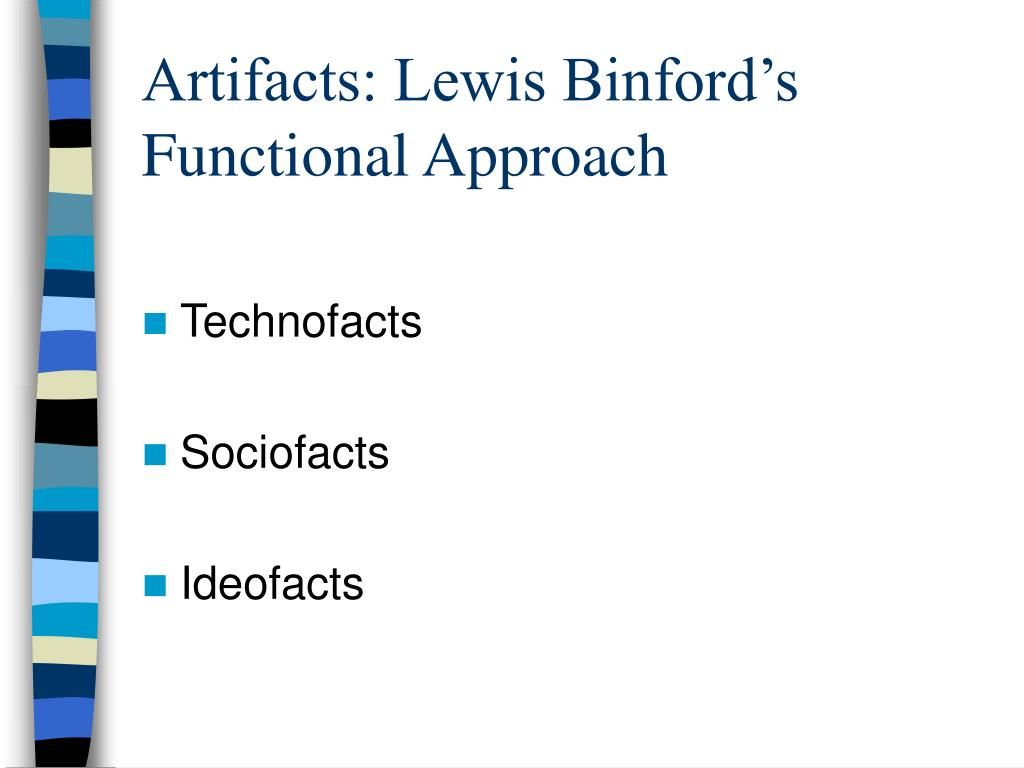 Artifacts: Lewis Binford's Functional Approach