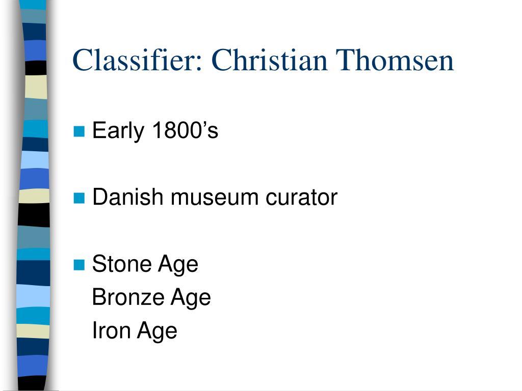 Classifier: Christian Thomsen
