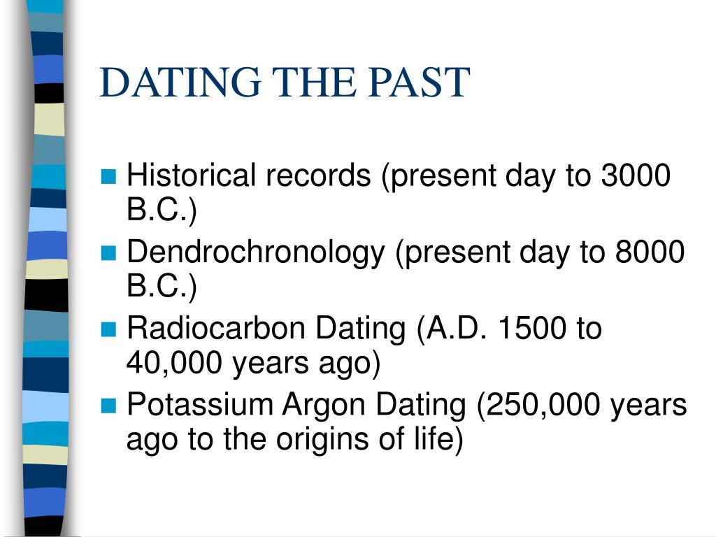 DATING THE PAST